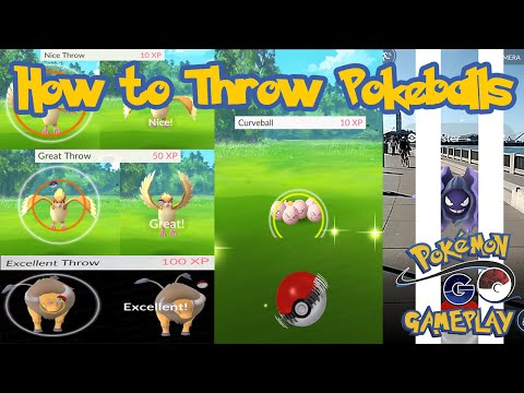 How to throw pokeballs properly in Pokemon Go