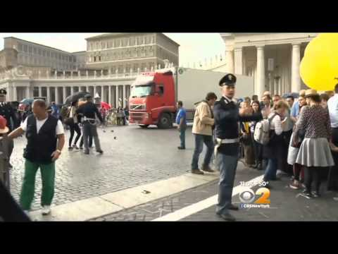Cardinal Dolan Arrives At The Vatican For Historic Canonization Of Two Popes
