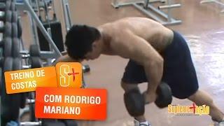 Treino de costas com Rodrigo Mariano