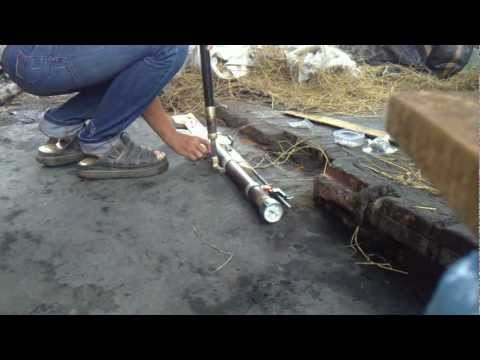 homemade PCP airgun ( NG-11) - test 2 - 18bar.MP4