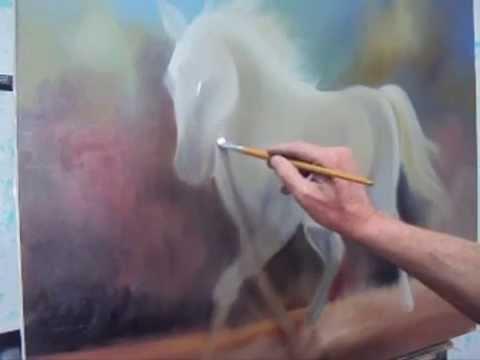Como pintar um cavalo leo sobre tela youtube - Como pintar sobre tela ...