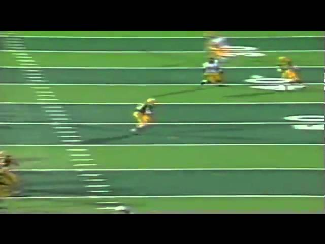 Oregon TE Jeff Thomason 18 yard reception vs. USC 9-28-1991