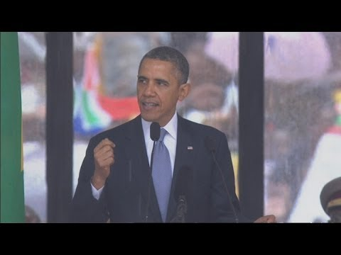 Mandela memorial service: President Obama's moving tribute to Nelson Mandela
