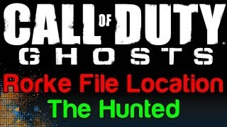 COD Ghosts: The Hunted Rorke File Location (Call Of Duty