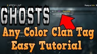 """""""Call Of Duty Ghosts"""" Any Color Clan Tag Tutorial ( Pink"""
