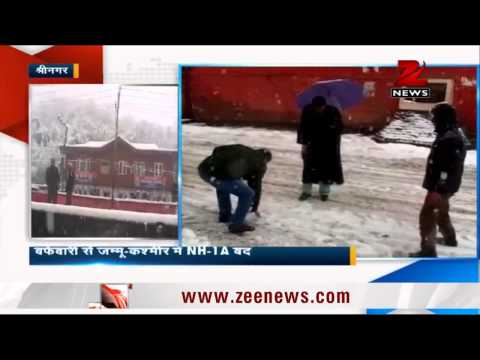 Heavy snowfall shuts Srinagar-Jammu highway