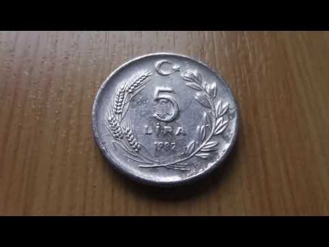 Money of Turkey - The 5 Lira coin from 1982 in HD