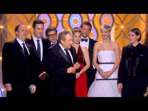 Jennifer Lawrence Bradley Cooper American Hustle - Golden Globe Awards 2014