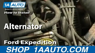 How To Install Replace Alternator Ford F-150 Expedition