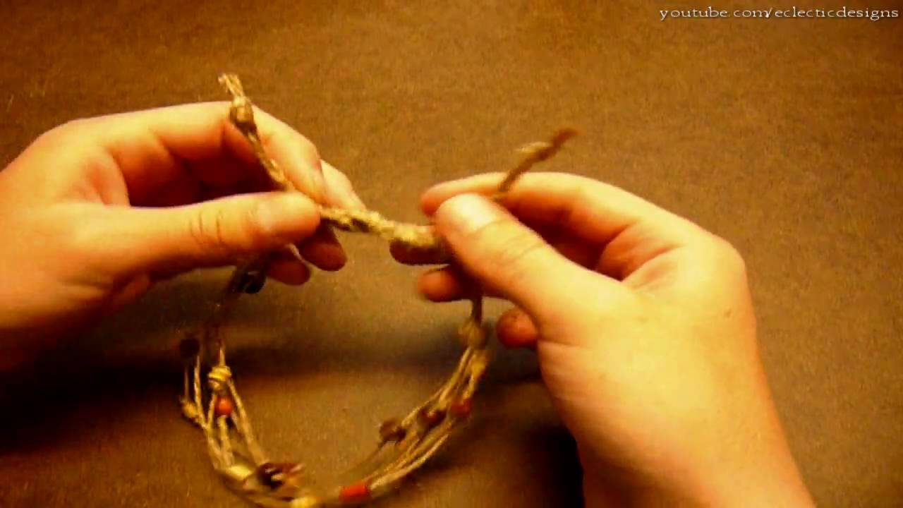 How to make a simple beaded hemp anklet jewelry making for What can you make out of string