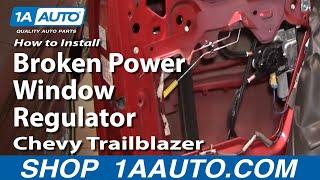 How To Install Replace Broken Power Window Regulator Chevy