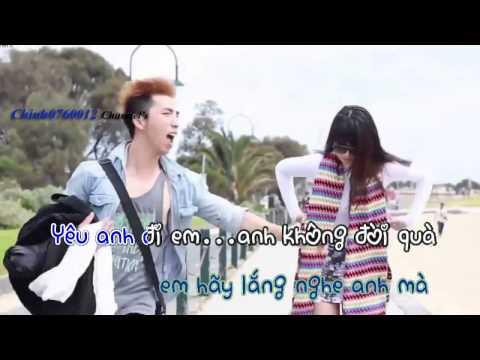 [karaoke] Anh không đòi quà - Karik ft OnlyC [HDbeat]