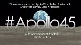 #Apollo45 Where were you when Apollo 11 Landed on the Moon?