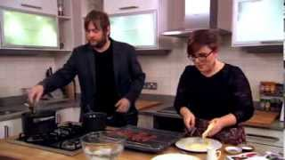 Battle of the pans: cooking contestants Stuart Evers and Leena Normington