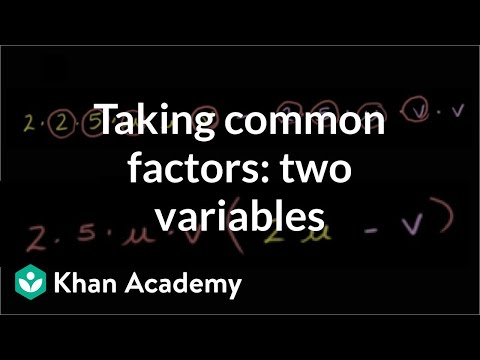 Factoring and the Distributive Property 2