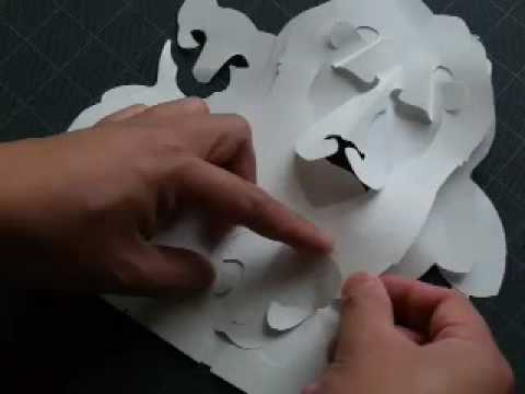 How to Make a Kirigami Lion & Cubs Pop-up Card