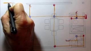 Instalaciones eléctricas de una casa en planos