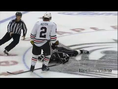 Duncan Keith slashes Jeff Carter in the face . May 4, 2013