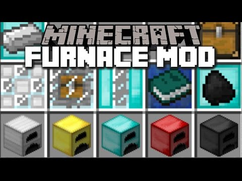 Minecraft MORE FURNACE MOD / FEED MILLIONS OF PEOPLE WITH THESE FURNACES!! Minecraft
