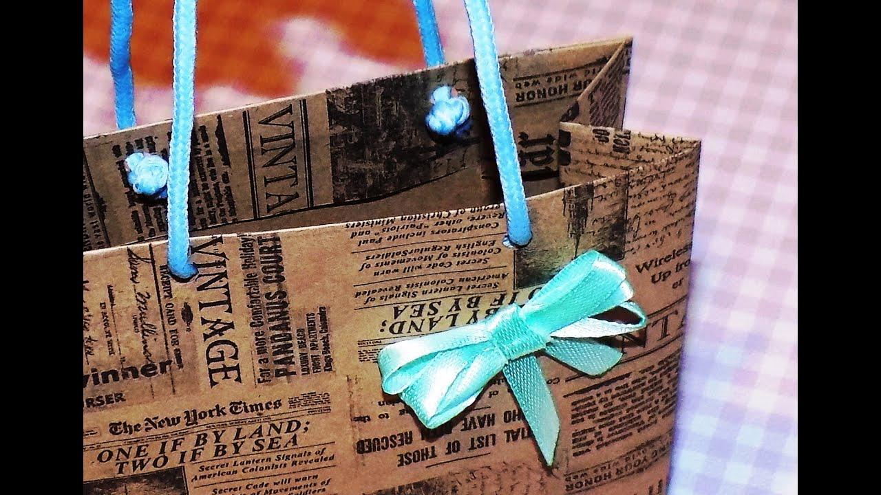 Пакеты бумажные сделай своими руками