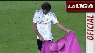 Homenaje a Raúl del Real Madrid