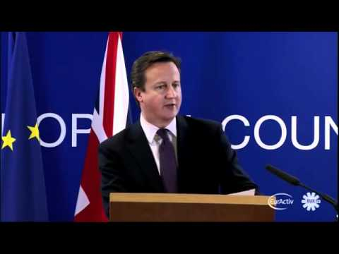 David Cameron vetoes against EU-wide treaty