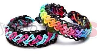 Rainbow Loom Criss Cross Over Braid Bracelet Requires