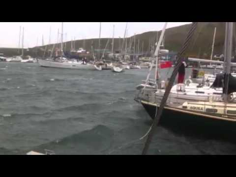 Yacht breaks mooring in storm - and parks itself in marina a mile away