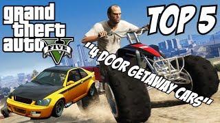GTA 5 Top 5 Getaway Cars!! (GTA V Getaway Cars)