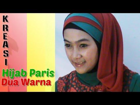 Tutorial Hijab Paris Segi Empat Dua Warna Special Ramadhan & Lebaran ...