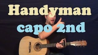 Handyman (James Taylor) Guitar Lesson Easy Strum Chords