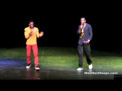 "Battioke 2014 - Miami HEAT players James Jones and Norris Cole sing ""Holy Grail"" by Jay-Z"