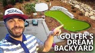 Golfer's Dream Backyard Renovation - My Home Putting Green