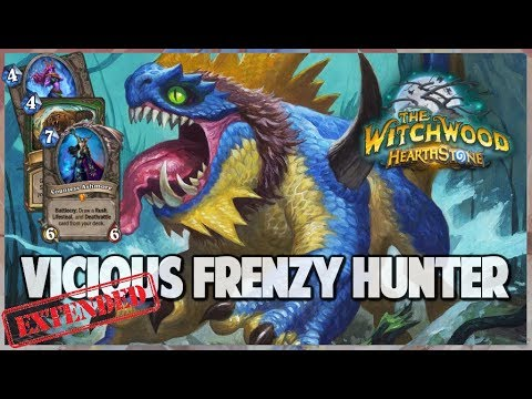 Vicious Frenzy Hunter | Extended Gameplay | Hearthstone | The Witchwood