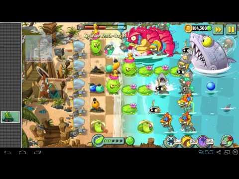 Plants vs Zombies 2 - Big Wave Beach Part 2 Day 32 BWB Zomboss - Zombot Sharktronic Sub Plants vs Zombies 2