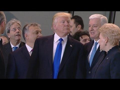 Trump shoves NATO leaders around over spending