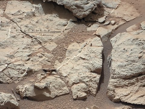 'Yellowknife Bay' on Planet Mars Ancient Flowing Water H20 on Mars by NASA's Curiosity