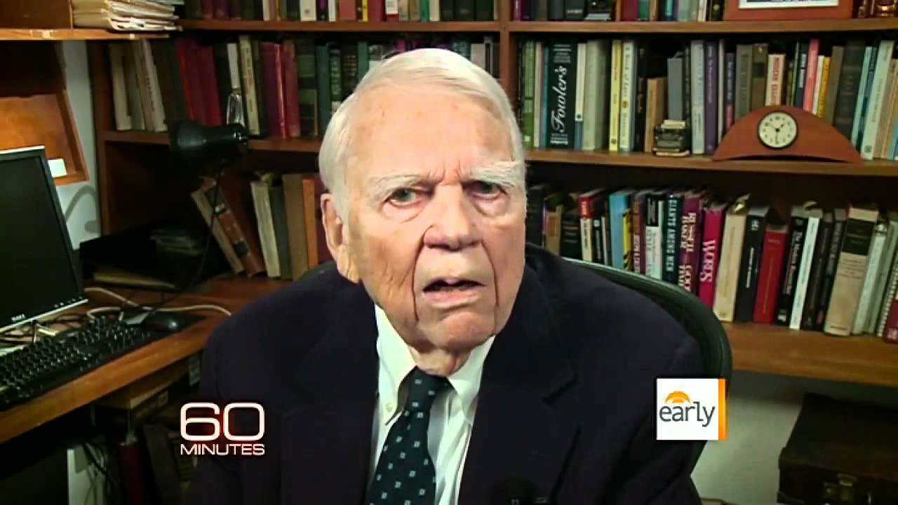 andy rooney final essay youtube Andy rooney has spent more than 30 years complaining on 60 minutes so during his final essay on sunday night, andy got as many complaints in as he could ok news: andy rooney ending his 33-year run on 60 minutes andy is leaving 60 minutes at the age 0f 92 i spent my first 50 years trying to become well-known as a.