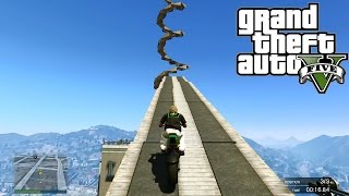 GTA 5 ONLINE Big Tornado In IAA ( Fun Custom Race ) GTA V