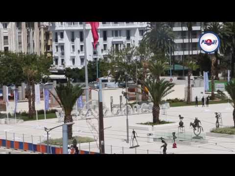 النافورة الجديدة في ساحة محمد الخامس بالبيضاء