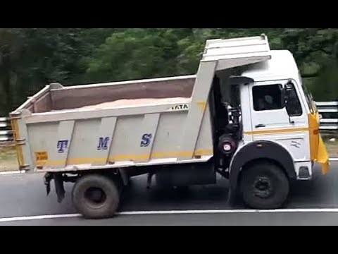TATA LPK 1618 tipper in ooty ghat section - powerful range of 177 230 280 hp HD engine