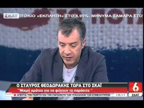 Ο Σταύρος Θεοδωράκης στον ΣΚΑΪ  - 10/04/2014