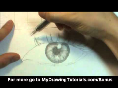 [Realistic Drawing Tutorial 7/8] Draw Realistic Eyes - How To Draw Eyelashes