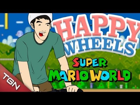 "Happy Wheels - ""Super Mario World"""