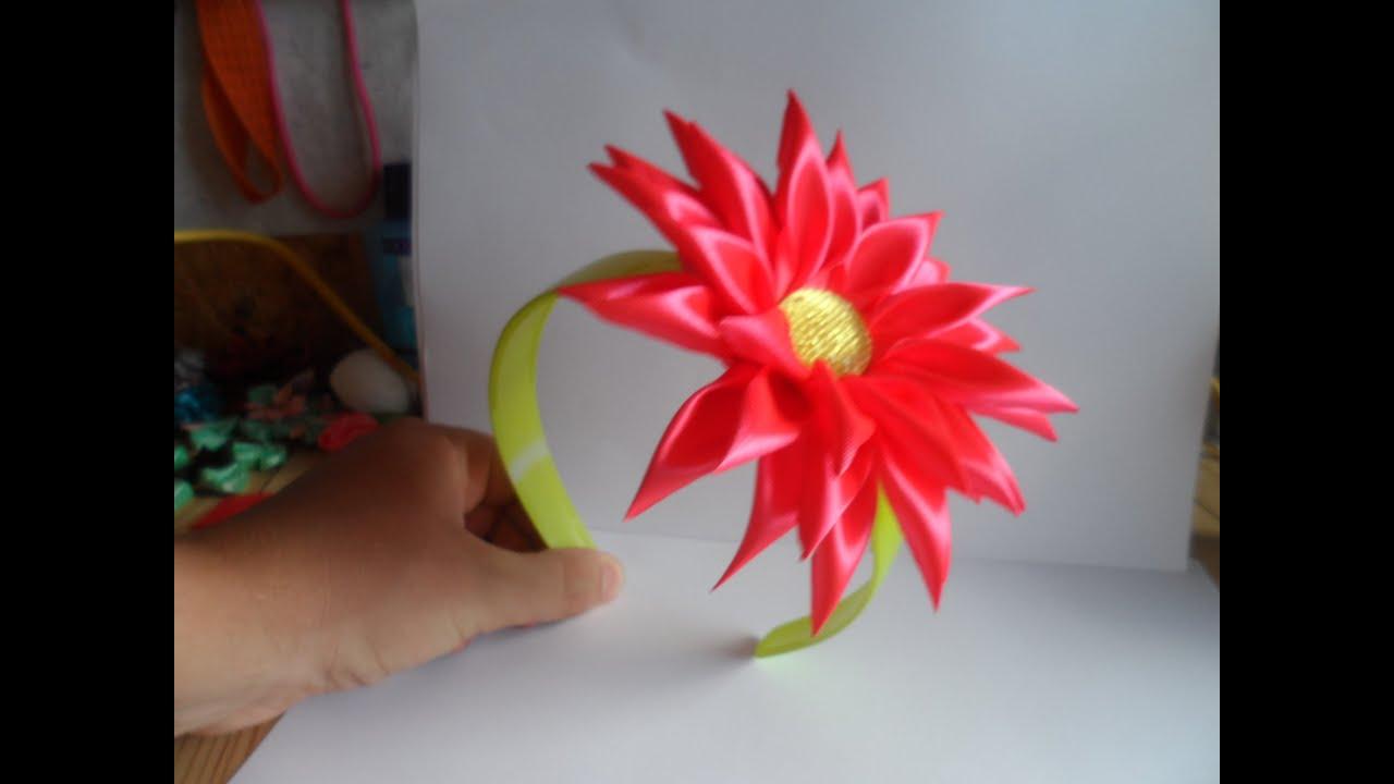 Как сделать шпилька с цветком
