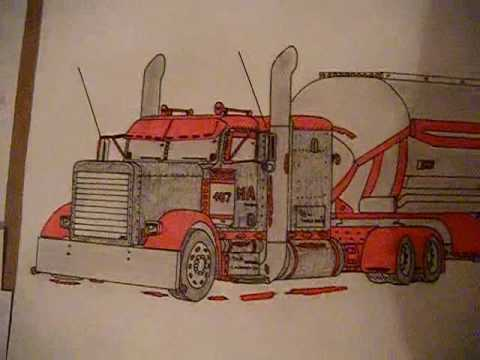 Semi Truck Drawings Cool Semi Truck Drawings