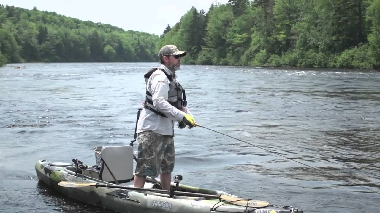Kayak fly fishing new hampshire youtube for Fly fishing kayak