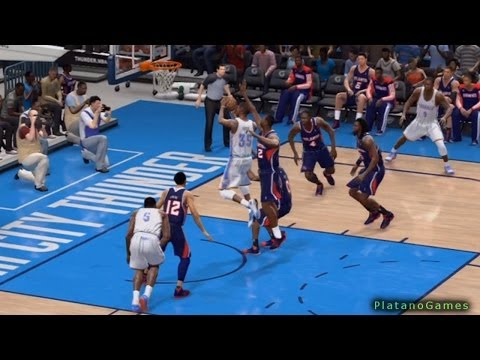 NBA Atlanta Hawks vs Oklahoma City Thunder - 3rd Qrt - NBA Live 14 PS4 - HD