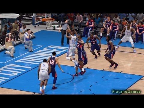 NBA Atlanta Hawks vs Oklahoma City Thunder - 3rd Qrt - NBA Live 14 PS4 - HD