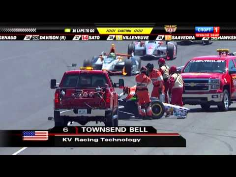 Townsend Bell Big Crash @ 2014 Indy 500